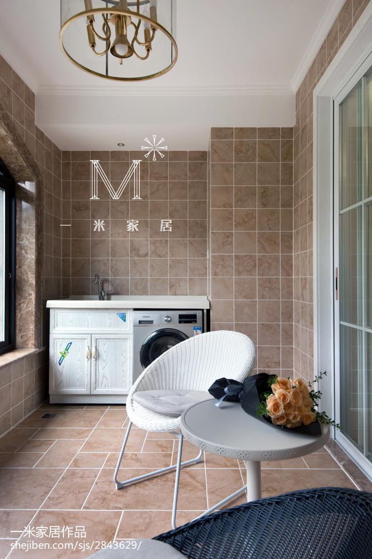 温馨107平新古典三居阳台装修案例阳台美式经典阳台设计图片赏析