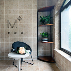 精美108平米三居阳台新古典装修效果图片欣赏