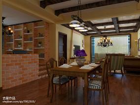 简单厨房餐厅隔断酒柜图片