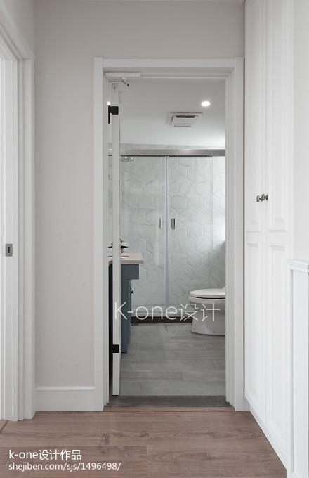 热门面积127平别墅卫生间混搭装饰图片大全卫生间
