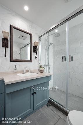 2018141平米混搭别墅卫生间装修设计效果图片欣赏