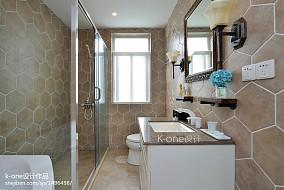 热门面积125平别墅卫生间混搭效果图片欣赏
