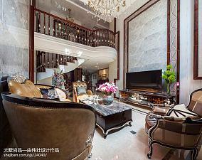 精美104平米三居客厅新古典效果图片大全