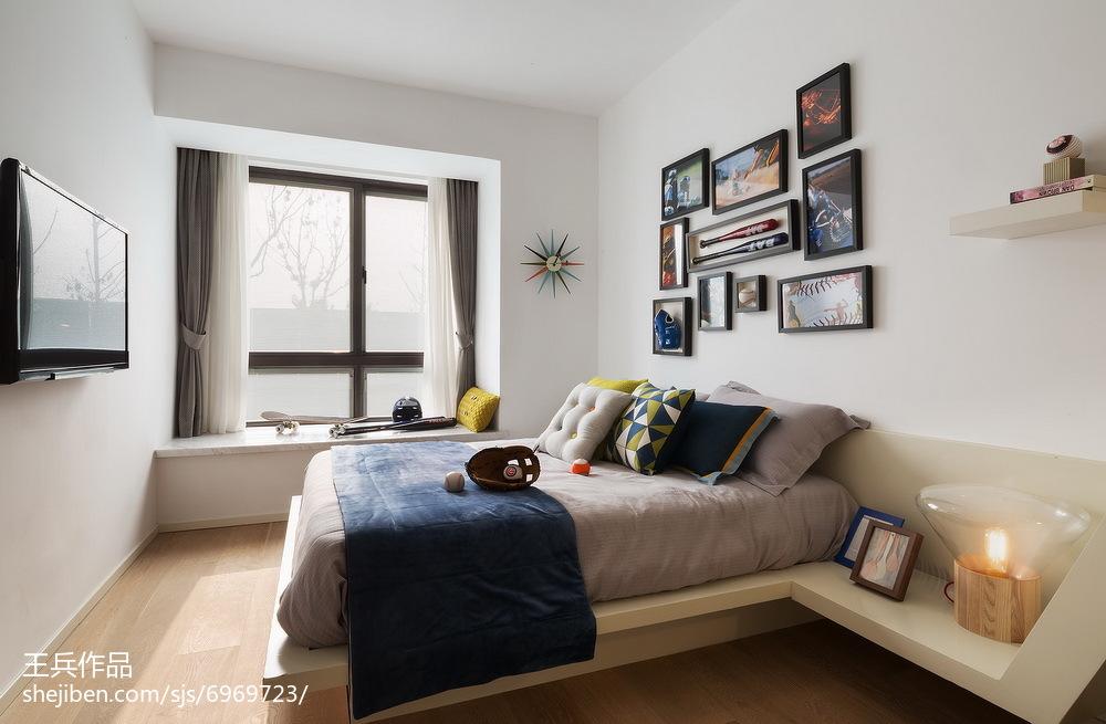 温馨现代风格卧室效果图