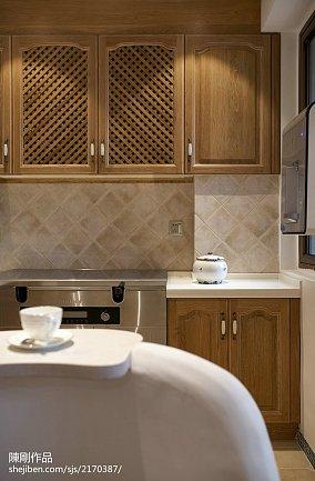 优美87平地中海三居厨房图片大全三居地中海家装装修案例效果图