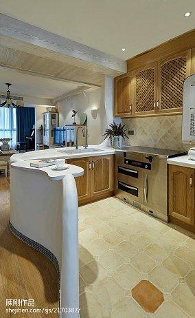 质朴91平地中海三居厨房设计美图三居地中海家装装修案例效果图