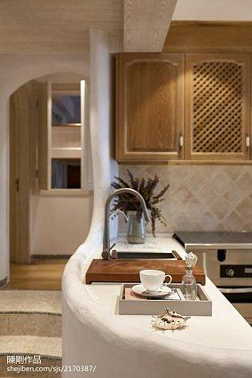 轻奢83平地中海三居厨房案例图三居地中海家装装修案例效果图