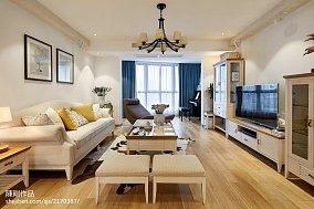大气97平地中海三居客厅装修设计图三居地中海家装装修案例效果图