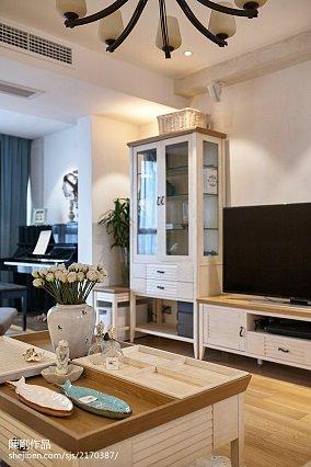 轻奢117平地中海三居客厅实拍图三居地中海家装装修案例效果图