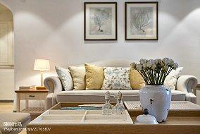 悠雅113平地中海三居客厅装修案例三居地中海家装装修案例效果图