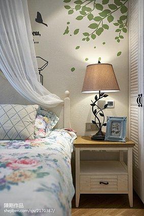典雅103平地中海三居卧室装修装饰图三居地中海家装装修案例效果图