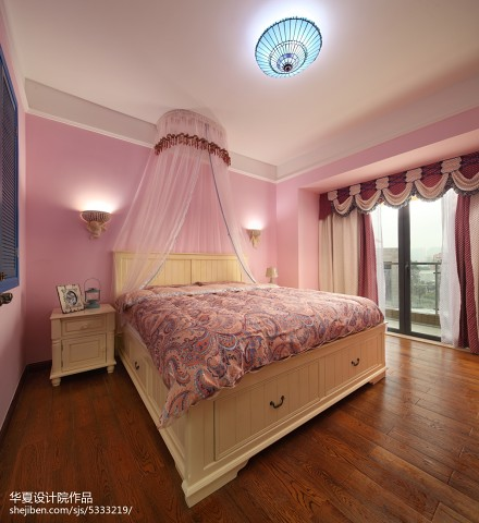 精选别墅卧室地中海效果图片大全卧室