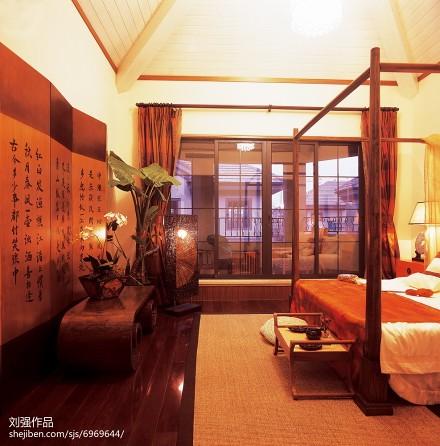 精美面积126平别墅卧室混搭装修图卧室