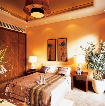 面积122平别墅卧室混搭装修图卧室2图