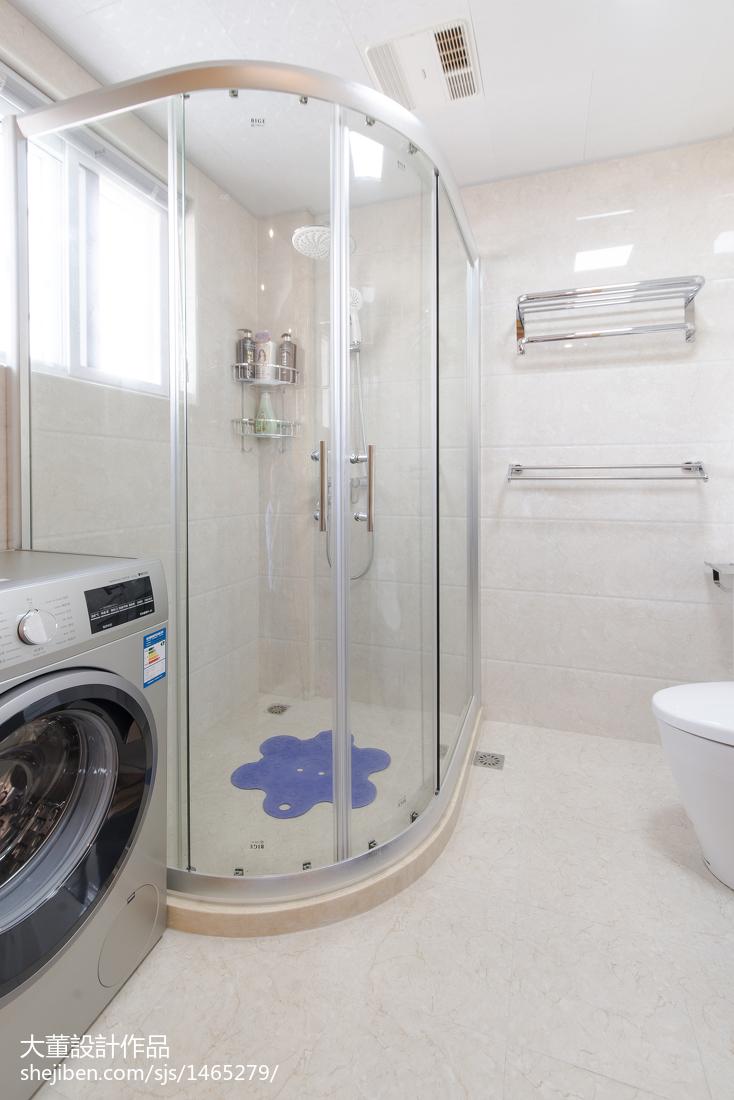 精美74平米二居卫生间宜家装修图片欣赏卫生间马桶现代简约卫生间设计图片赏析