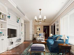 轻奢80平美式三居装饰图片