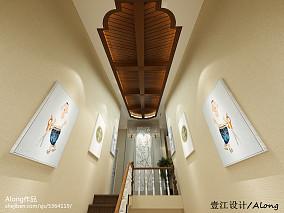现代风格别墅家庭大厅装修效果图