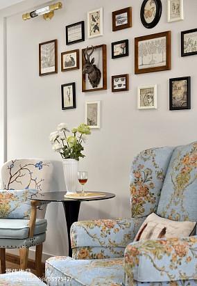 典雅时尚美式相片墙设计图