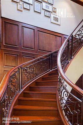 轻奢214平美式别墅设计美图别墅豪宅美式经典家装装修案例效果图