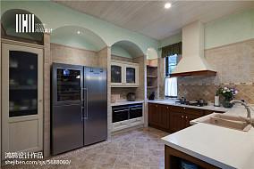 面积134平别墅厨房美式装饰图别墅豪宅美式经典家装装修案例效果图