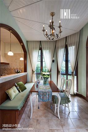 平米美式别墅餐厅装修图片大全别墅豪宅美式经典家装装修案例效果图
