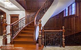 美式风格楼梯布局效果图别墅豪宅美式经典家装装修案例效果图