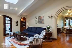 精美113平米美式别墅休闲区效果图