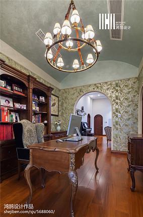 热门美式别墅书房欣赏图片别墅豪宅美式经典家装装修案例效果图
