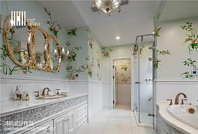 热门美式别墅卫生间欣赏图片别墅豪宅美式经典家装装修案例效果图