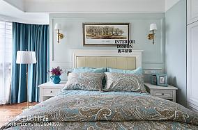 精美面积106平美式三居卧室效果图片