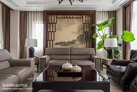 精选面积144平别墅客厅中式装修设计效果图片欣赏