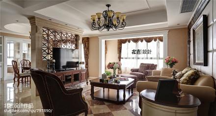 2018精选面积123平复式客厅美式装饰图片欣赏