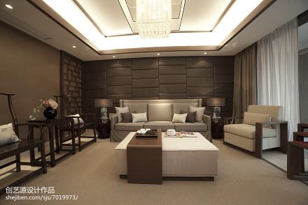 精选面积100平中式三居客厅装修设计效果图片大全三居中式现代家装装修案例效果图