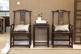精美面积91平中式三居客厅装修设计效果图片欣赏三居中式现代家装装修案例效果图