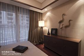 2018大小95平中式三居卧室装修实景图片大全三居中式现代家装装修案例效果图