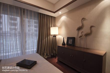 2018大小95平中式三居卧室装修实景图片大全