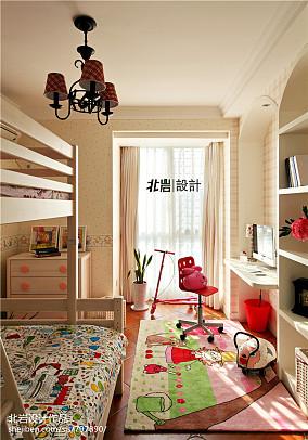 热门三居儿童房美式装饰图