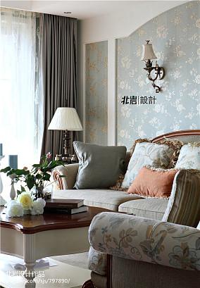 热门92平方三居客厅美式装修效果图片