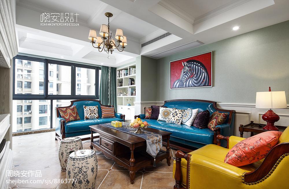 华丽42平美式复式客厅设计案例客厅