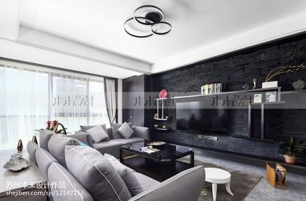 优美78平现代复式客厅效果图欣赏