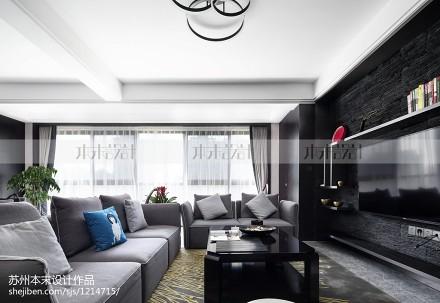 大气220平现代复式客厅实景图片复式现代简约家装装修案例效果图