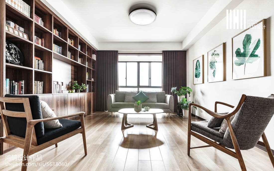 热门复式书房日式装修设计效果图片复式日式家装装修案例效果图