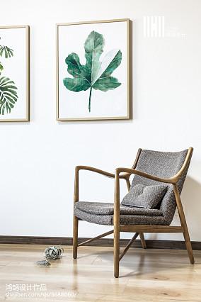 优雅70平日式复式休闲区实景图片复式日式家装装修案例效果图