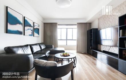 精美面积126平复式客厅日式装饰图片欣赏