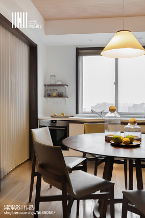 浪漫40平日式复式餐厅设计美图复式日式家装装修案例效果图