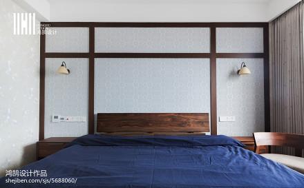 简洁48平日式复式卧室实景图卧室