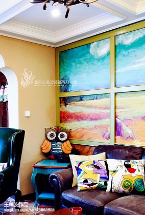 2018面积77平东南亚二居客厅装修欣赏图