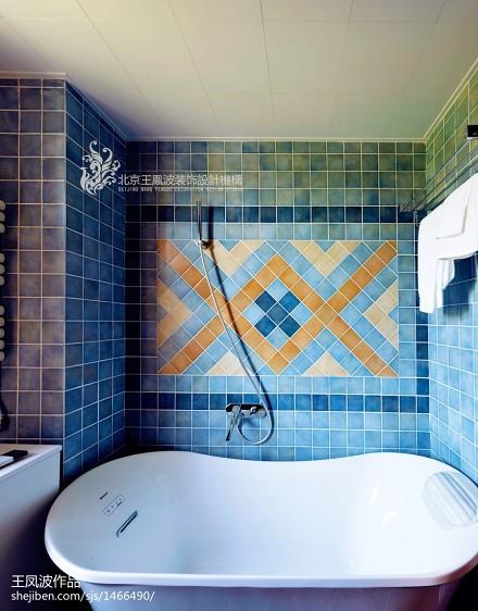 温馨82平东南亚二居卫生间装饰图卫生间
