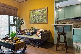 热门面积87平小户型客厅东南亚装饰图片