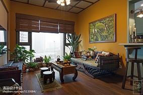 精美76平米东南亚小户型客厅装修设计效果图片大全
